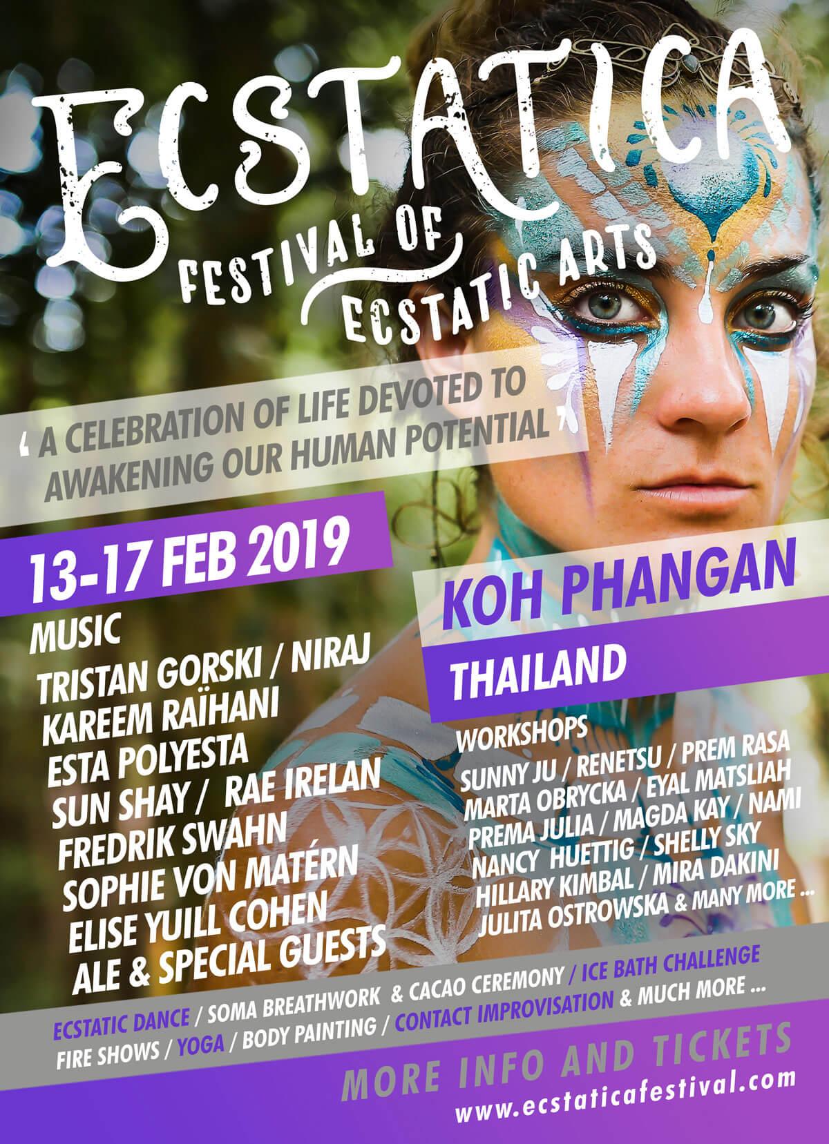 ecstatica festival koh phangan thailand festiavl lineup